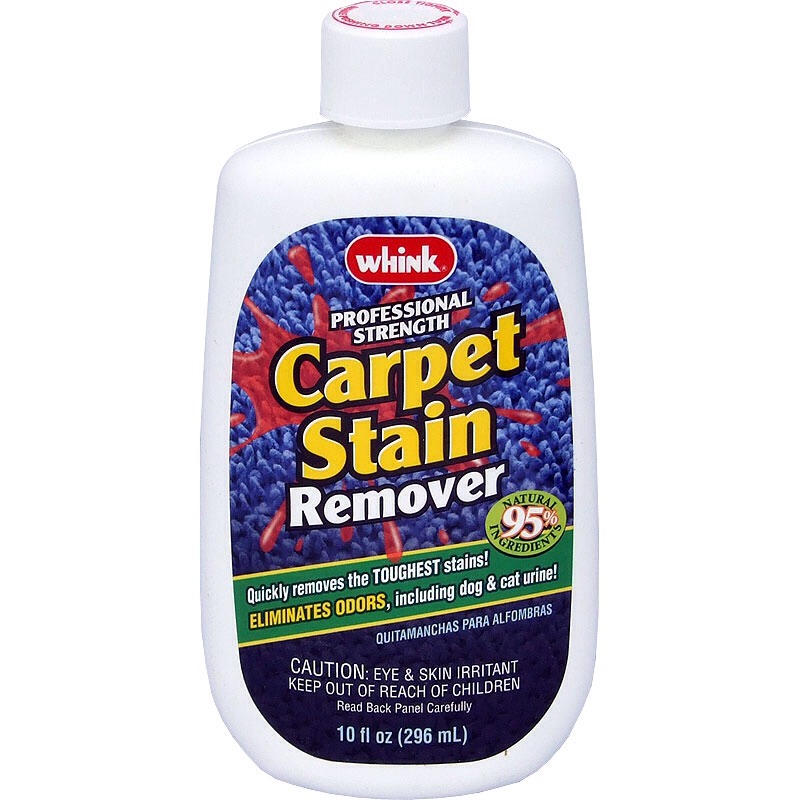 Carpet Stain Remover: Soak up as much of the stain as possible using a towel or paper towel. Then spray the area with an intense stain remover and let sit.  Rub and scrub until the stain disappears. Doing this will keep the stain wet rather than harden