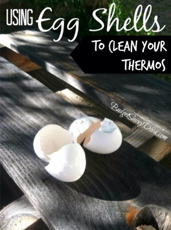 Thermos Cleaning Crushed egg shells can help to clean those hard to reach places inside thermoses.