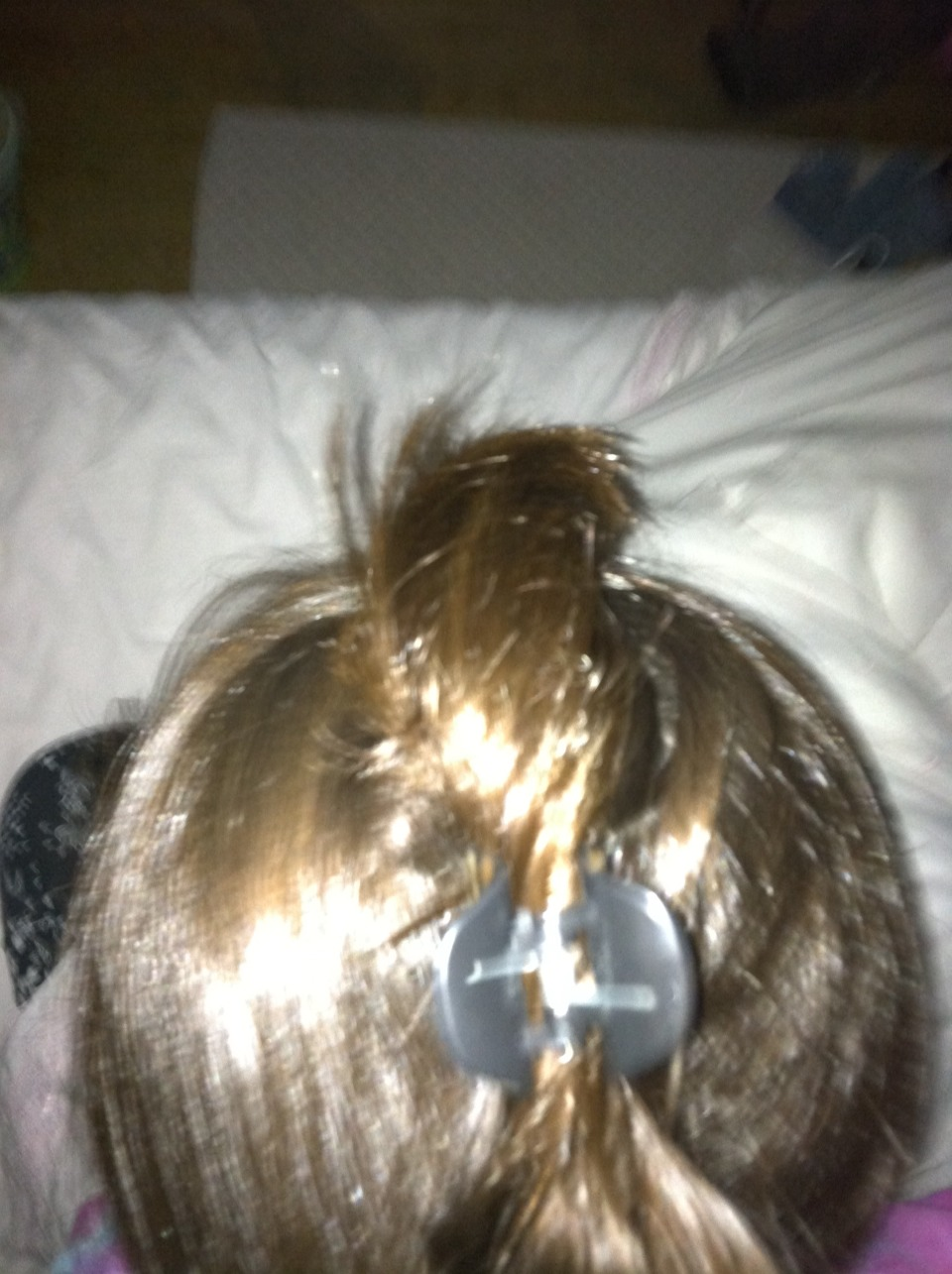 Keep hair clip in a place where you can place your head down on a pillow comfortably