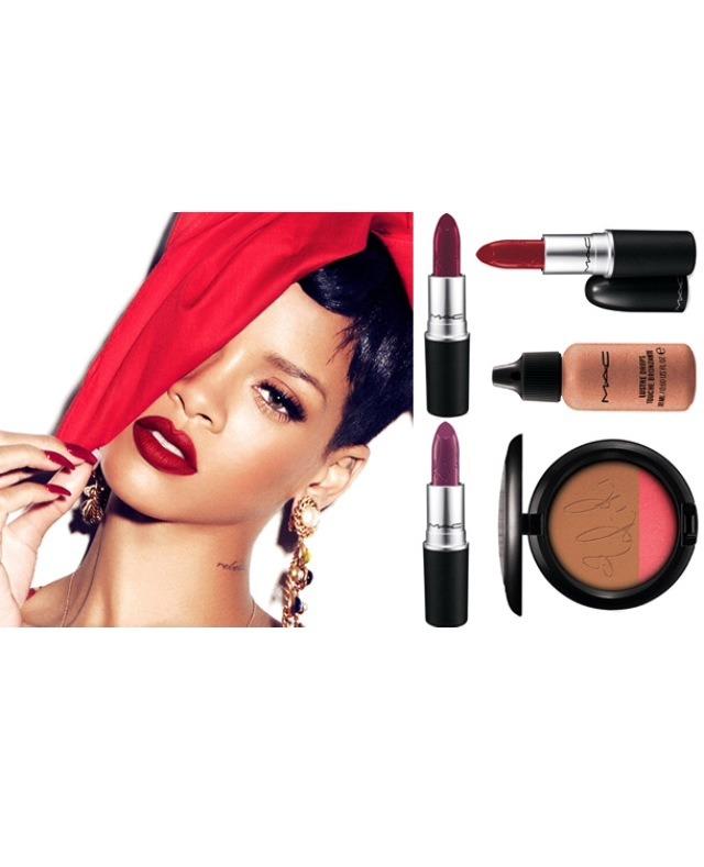 Lips, foundation, blush