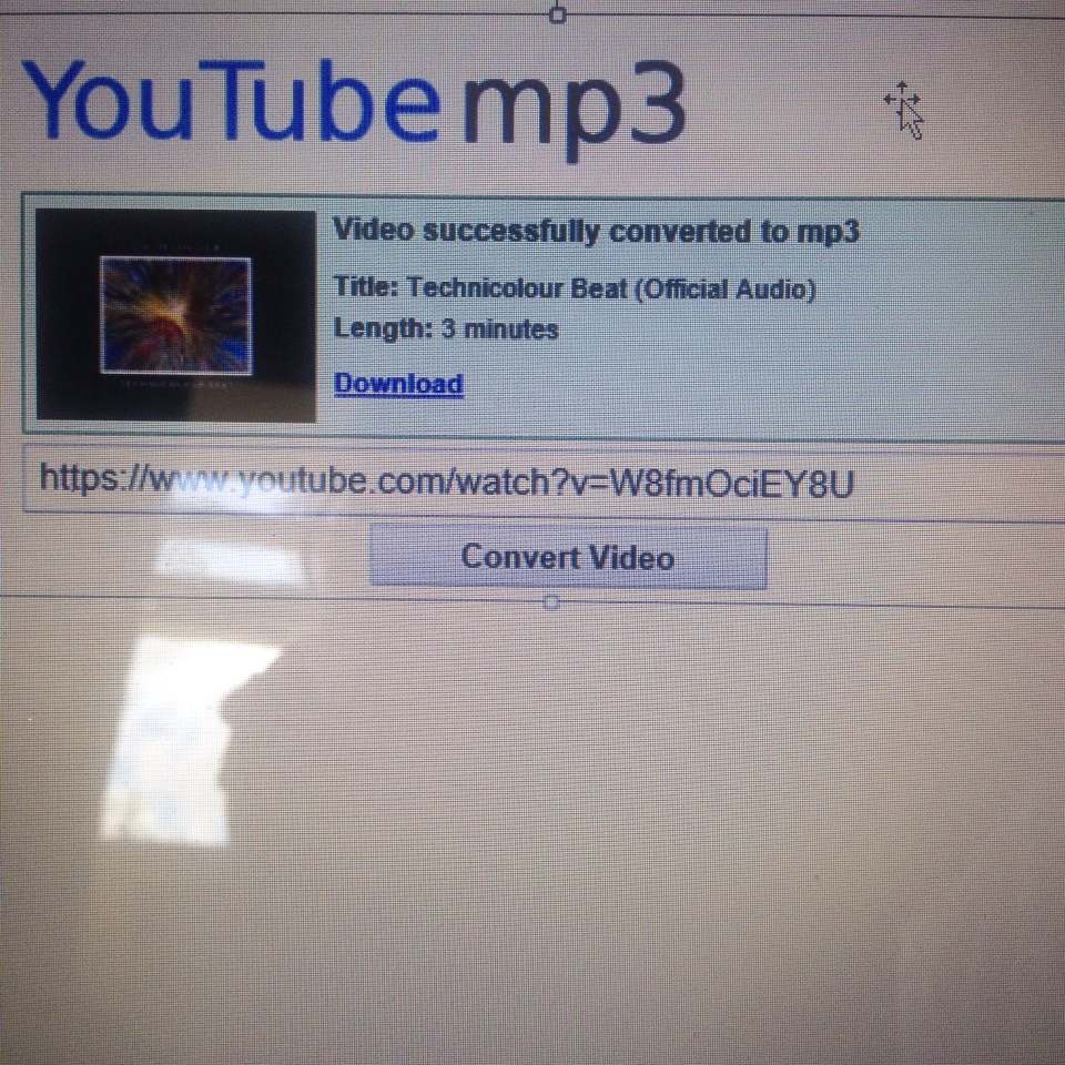Hit convert video and wait for it to be recognised and then hit downloaded