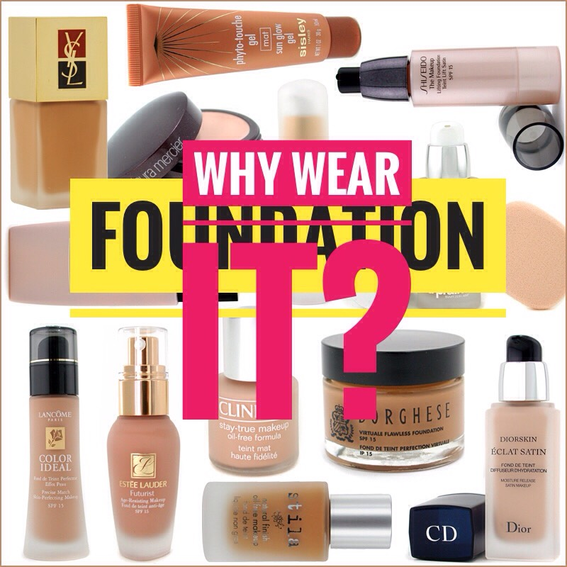 Manycontain sun screen whichshould beworn often as a defense against aging+ skin cancers. The correct foundation can help make you look younger. Many foundations contain ingredients that can help your skin such as moisturizers + anti-aging ingredients. Red skin tendency can be toned down.