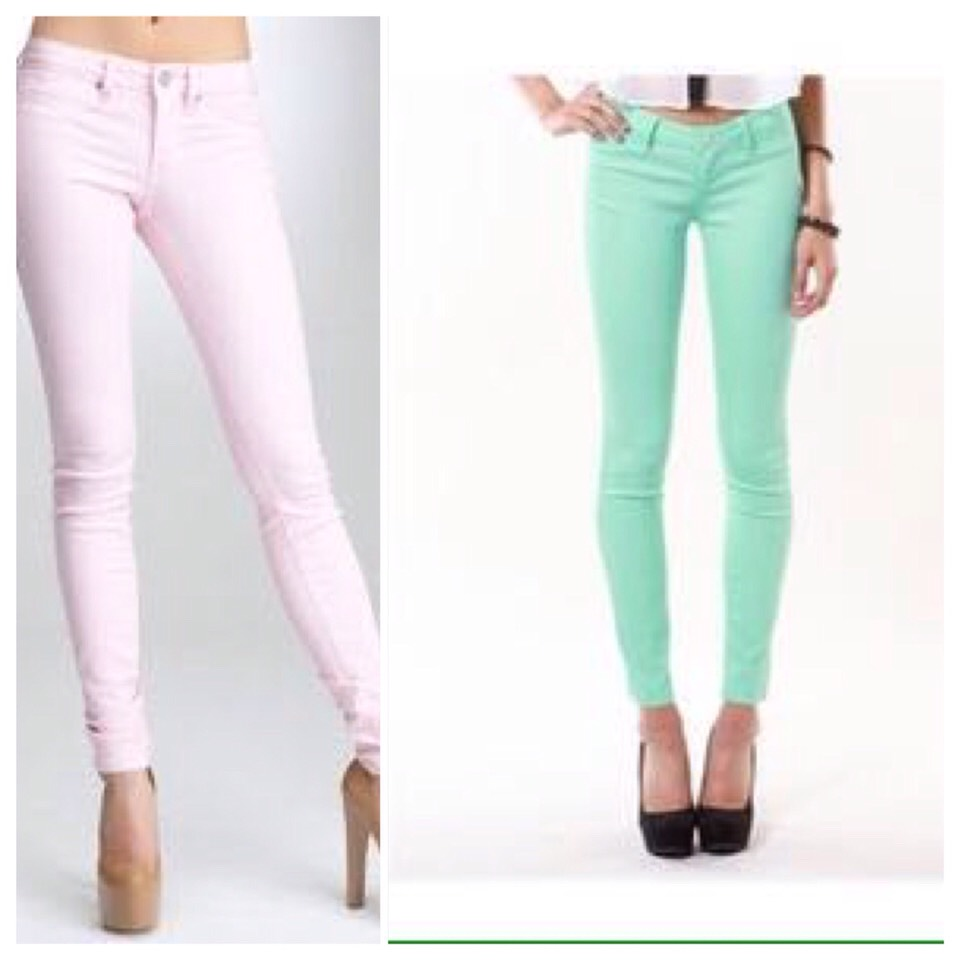 🎀Colored jeans in pastel🎀