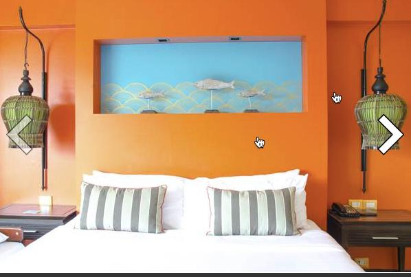 The walls can also be given a new look to keep in tune with the season. One wallpaper in a strong pattern or a radically coloured one works best.