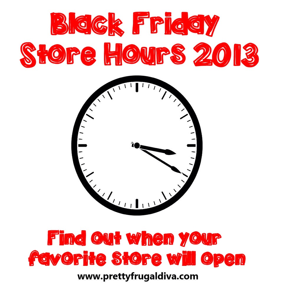 (3) Know your store's hours (some stores are opening on Thanksgiving night while others are waiting until the wee hours of Friday morning).