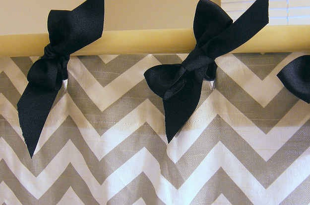 18. Tie shower curtains on with bows instead of metal rings that rust.