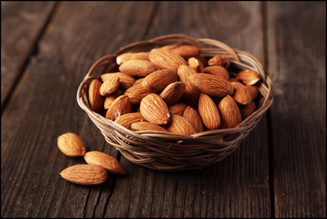 ALMONDS |Packed with vitamin E,almondscan help you maintain healthy skin. While chowing down on these nuts can't replacesunscreen, it's worth noting that vitamin E may also protect the skin from damage caused by the sun.