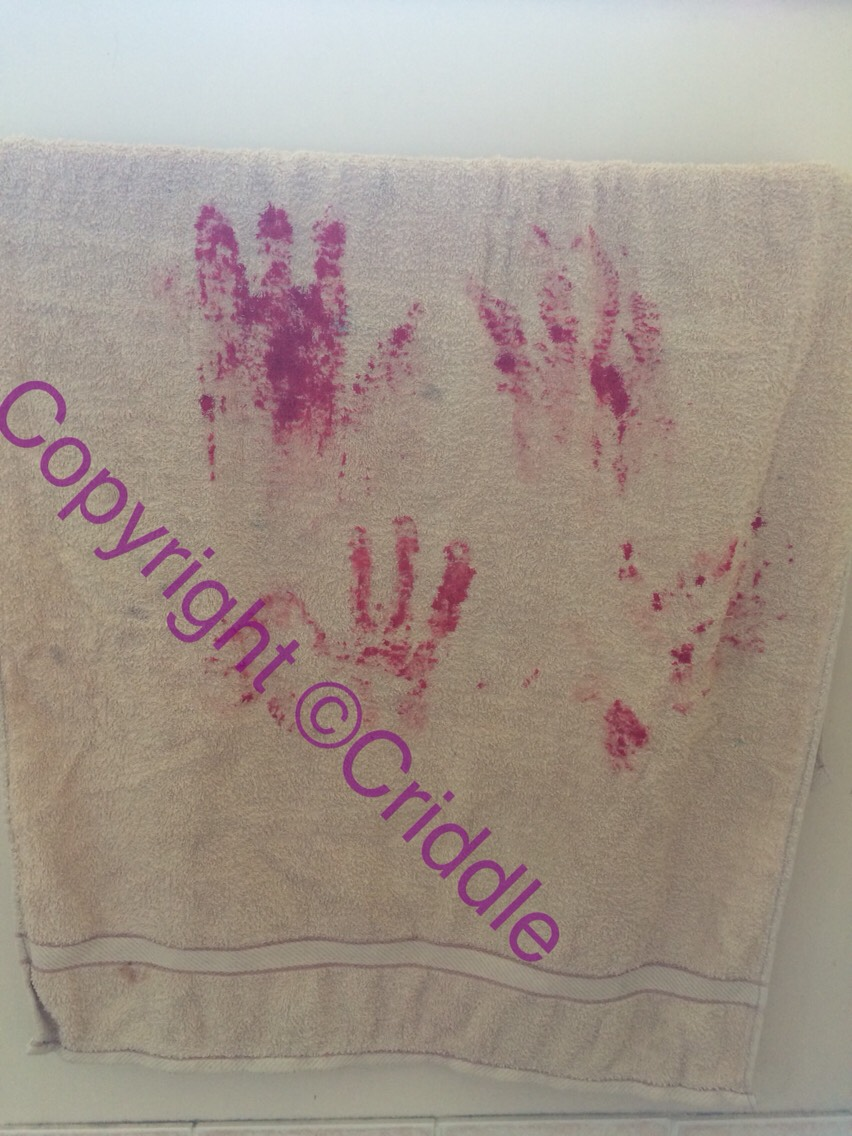 Use food colouring and your hand :-) . Make sure you use a glove food colouring stains