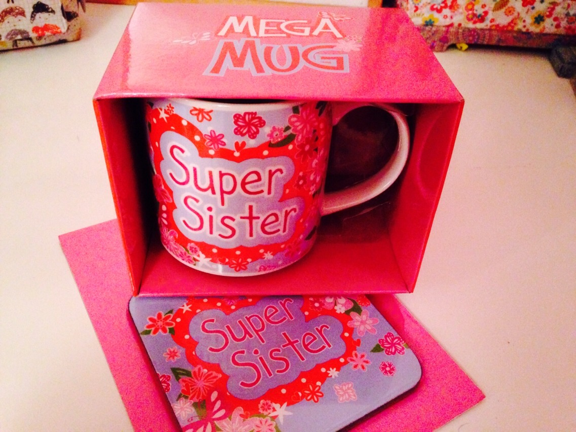 A mug and coaster for family