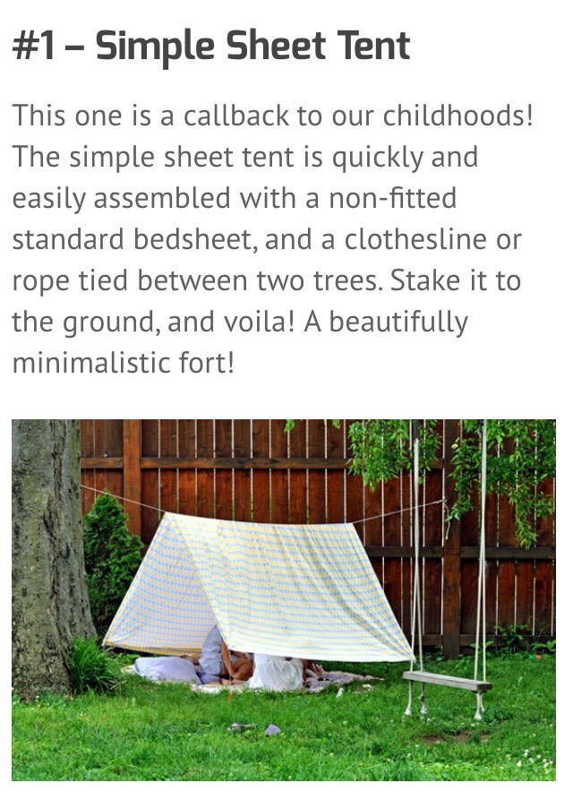 how to build an awesome fort outside