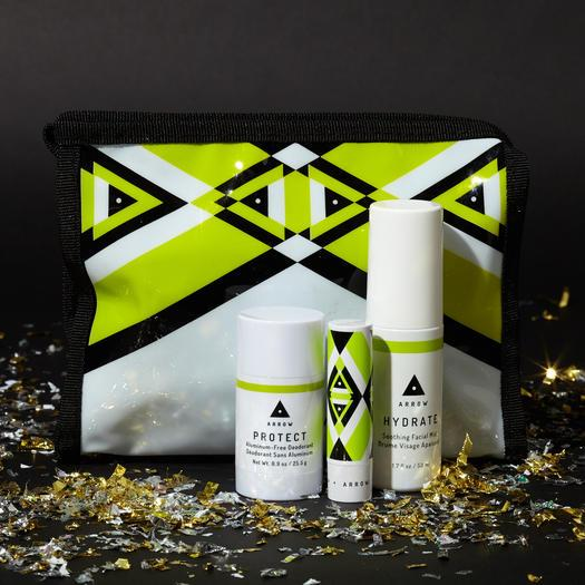 ARROW Limited-Edition Freshen Up KitMade with working out in mind, this kit includes a travel-size coconut water-infused facial mist to cool your skin post-sweat, a citrus-scented aluminum-free deodorant, and amangoseed butter lip balm that adjusts to your unique pH. ($34;birchbox.com)