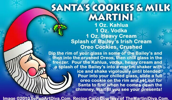 Then there's Santa's drink to relax after all the work ❄🎅🍸😘
