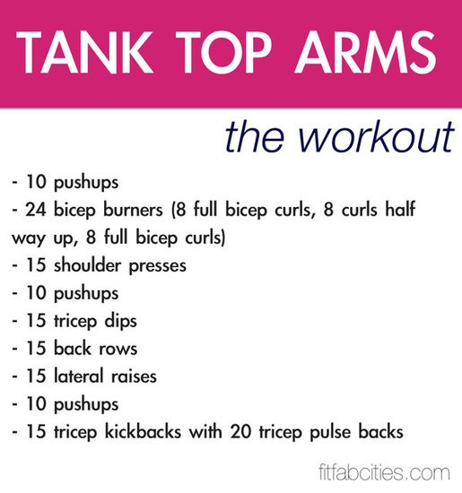It'll make your arms look good in just about anything :)
