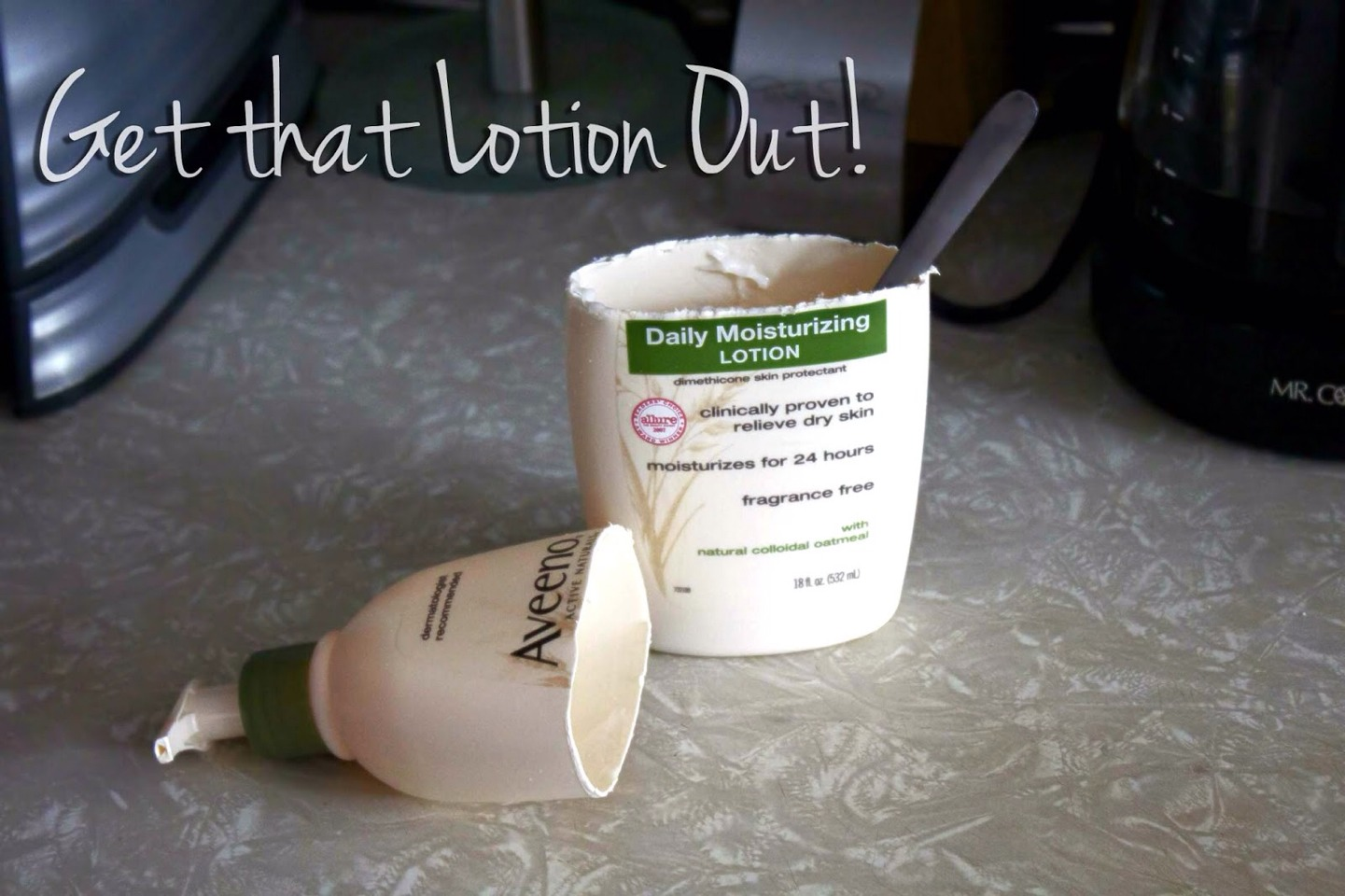 Cut it In half and take that lotion out