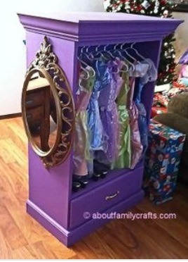 Remove all but bottom drawer, paint, add a retention bar and a mirror!