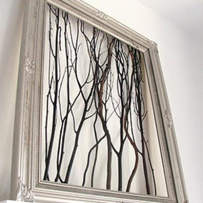 Make branch-tastic pieces for your home!  By using some tree branches, a bit of creativity and some general household goods, it's amazing what you can make.  We absolutely love these elegant branch pieces of art so we're going to show you how to make some funky and modern art