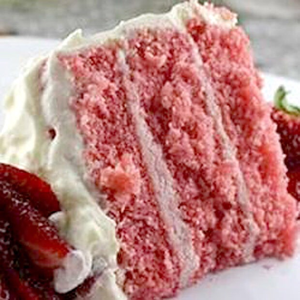 You can make a strawberry cake! Mix in some cut up strawberries in the cake mix and bake! Also top with sliced strawberries!