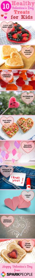 Valentine's Day doesn't have to be all about chocolate and other decadent treats. Show the kids in your life how much you love them with simple, healthy snacks and heartfelt messages. They'll remember the creativity a lot longer than a bag of candy! Here are 10 easy ideas to inspire you.