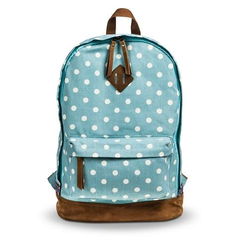 First, you need a backpack!  This one is from Target, and is cute but still holds a lot of stuff.  http://www.target.com/p/women-s-polka-dot-canvas-backpack-blue/-/A-16514367?lnk=rec|pdp|top_rated|catcombo4p770X477