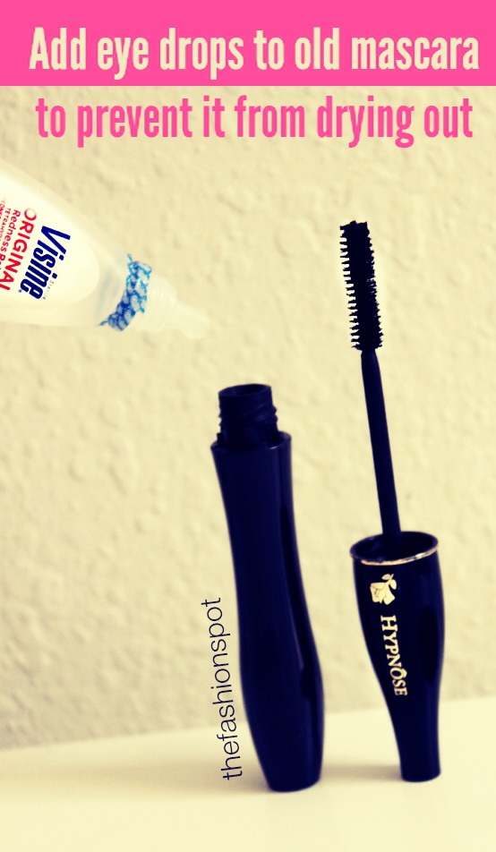 •Add a few eye drops to prevent mascara drying out or going clumpy.