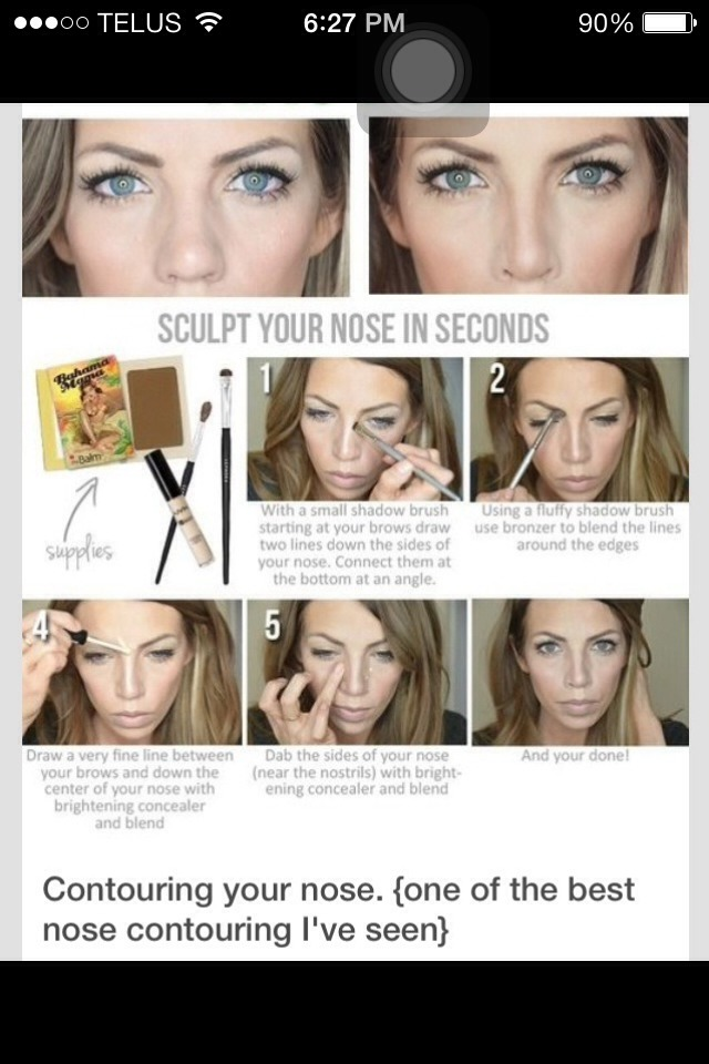 Really does work.  Makes my nose look slim and shaped.  Please like:)