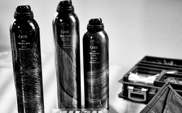 """Before launching into this bun, Tran sprayed more Dry Texturizing Spray ($42) from Oribe (he goes through a can a week!). """"The most important thing is having the hair dirty—it's the texture that keeps everything together."""""""