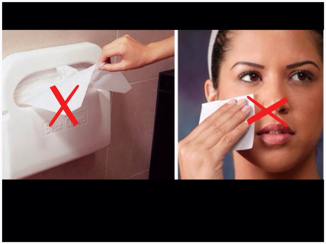 These toilet seat covers are just as contaminated as the seat itself!! Do not try this. It's like whipping poop on the face. Fecal matter rises up when you release and and lands in these. Do not try!