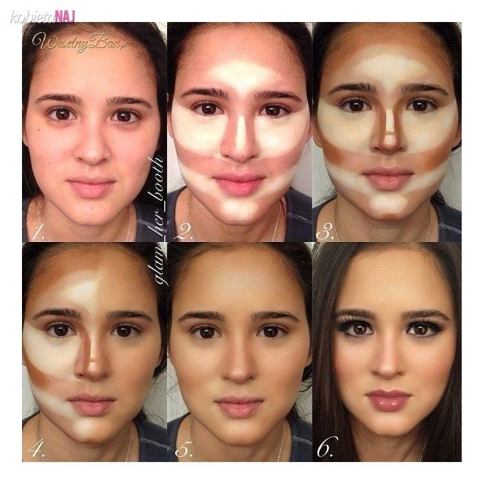 Contour your face with a foundation or a bronzer remember to blend good