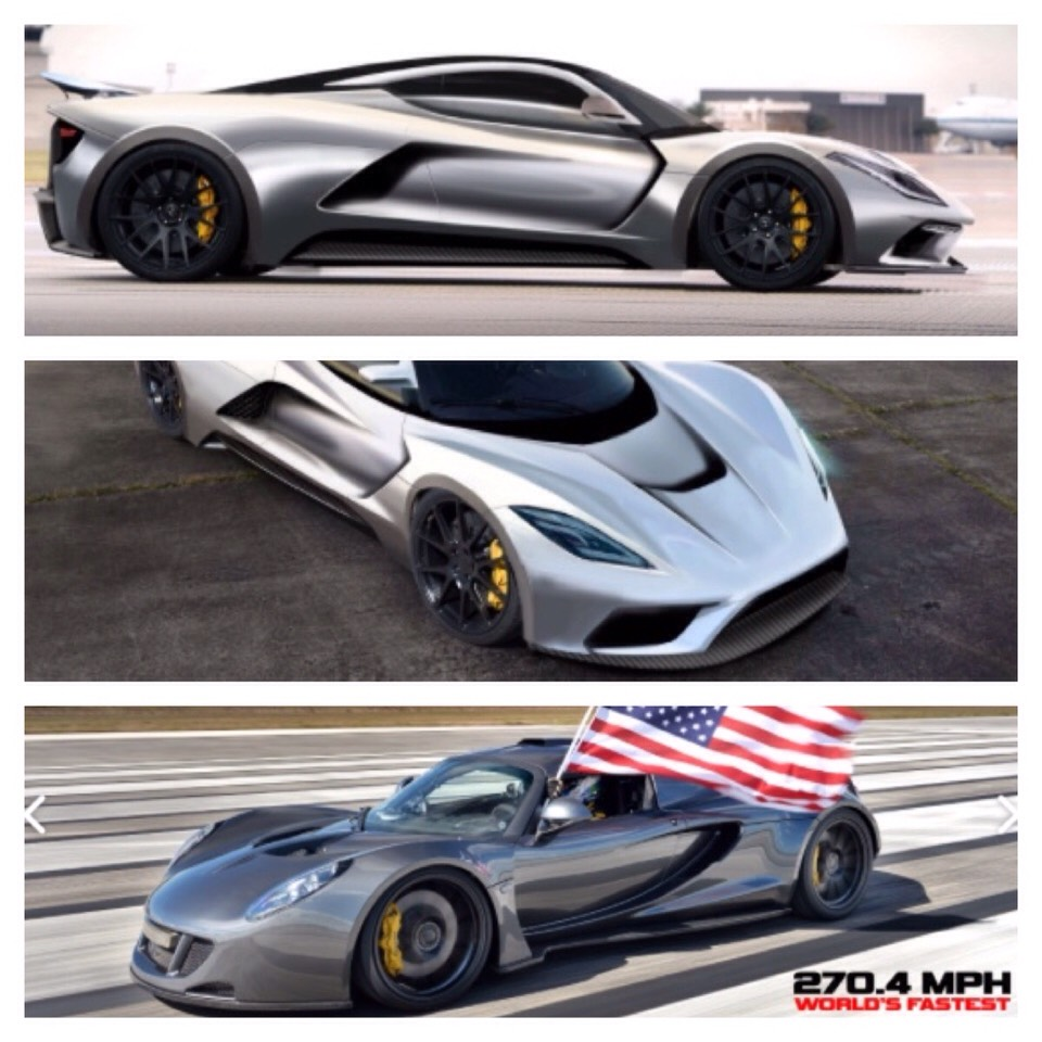 This here is the Venom GT by Hennessey. She currently holds the world record for accelerating up to 270.49 mph.
