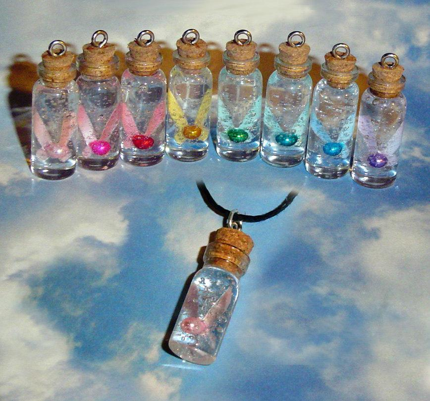 As you know, the Zelda franchise is popular in bottle charms because throughout the game, you use a bottle to collect water, fairies, potion, and in Ocarina, LonLon Milk.