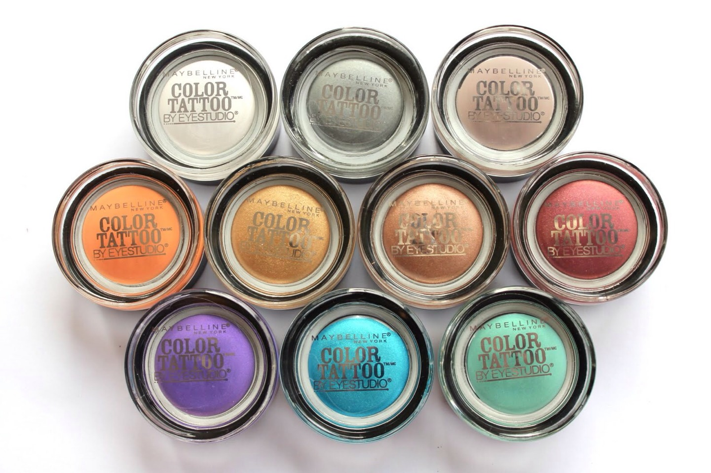 2. Maybelline Color Tattoo  These are SUCH amazing products. And best if of all- a little goes a long way!! My favorite shade is Barely Branded, because it is very subtle yet gorgeous!!!