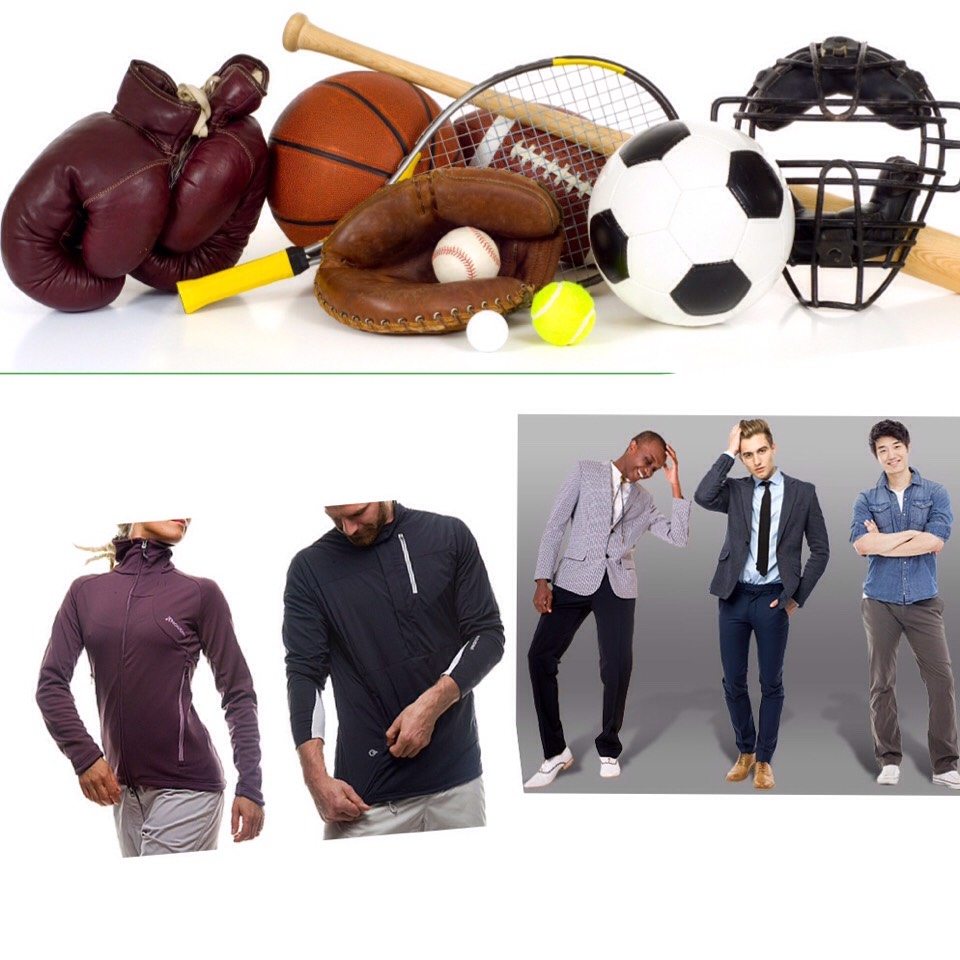 June- Summer sporting goods sportswear men's and boys clothing and sleepwear.
