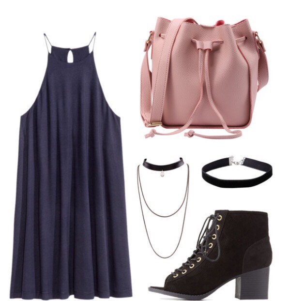 Dress: Forever 21 Shoes: Charlotte Russe Necklaces: Forever 21 Backpack: Romwe.com $18 sale hurry!!!!! (These items are not directly at the store but have very similar items from these in the picture😊)