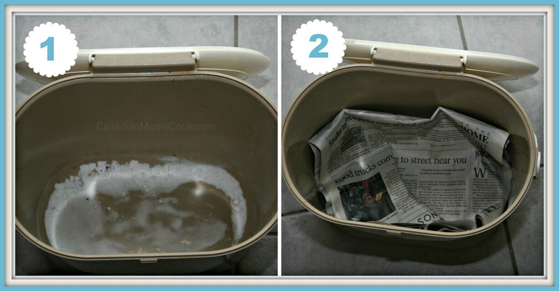 CLEAN.  Add BAKING SODA.  NEWSPAPER  Bag. As easy as that :) PLS like