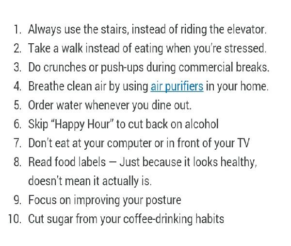 10 Simple Healthy Living Life Hacks