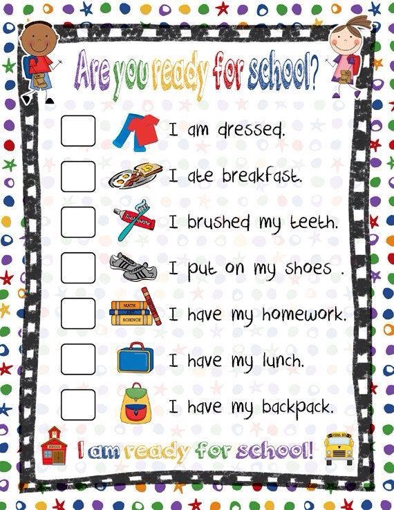 Last but not least if they're in school make a checklist of these items and hang it by the door make sure they check it every morning before leaving.