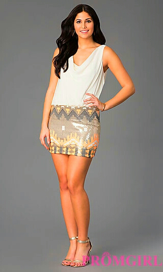 Two Piece w/ Sequin Pattern