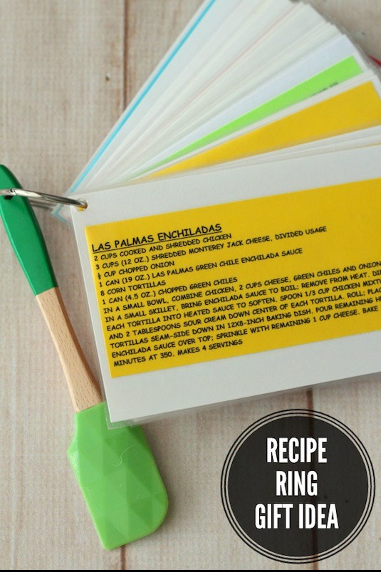 21. Recipe Ring This is brilliant! Type out and laminate your favorite recipes and attach them to a handy ring.