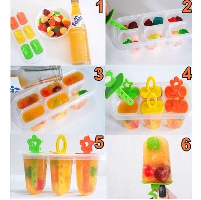 Fanta & Gummy Ice Pops🍭🍦