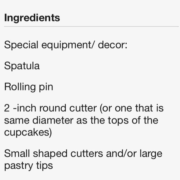 Things for the fondant.
