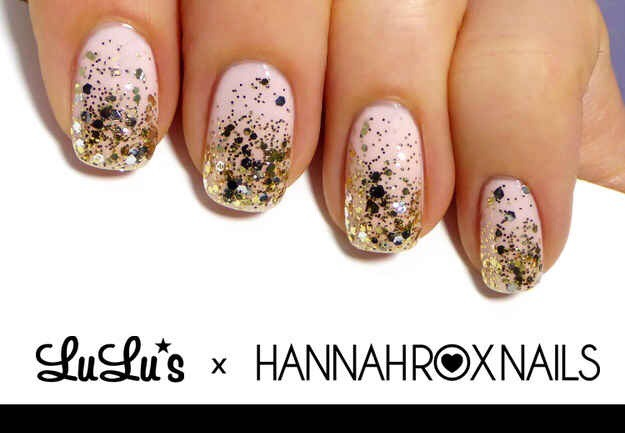 --> A Golden Takeover Manicure