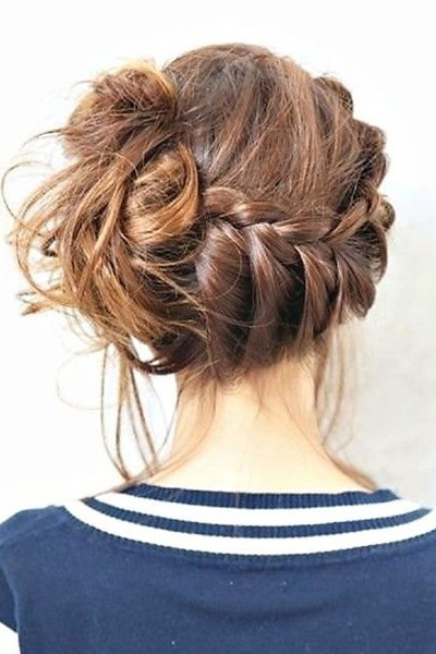 This side braid-to-bun is one of our favorite hair looks of all time.