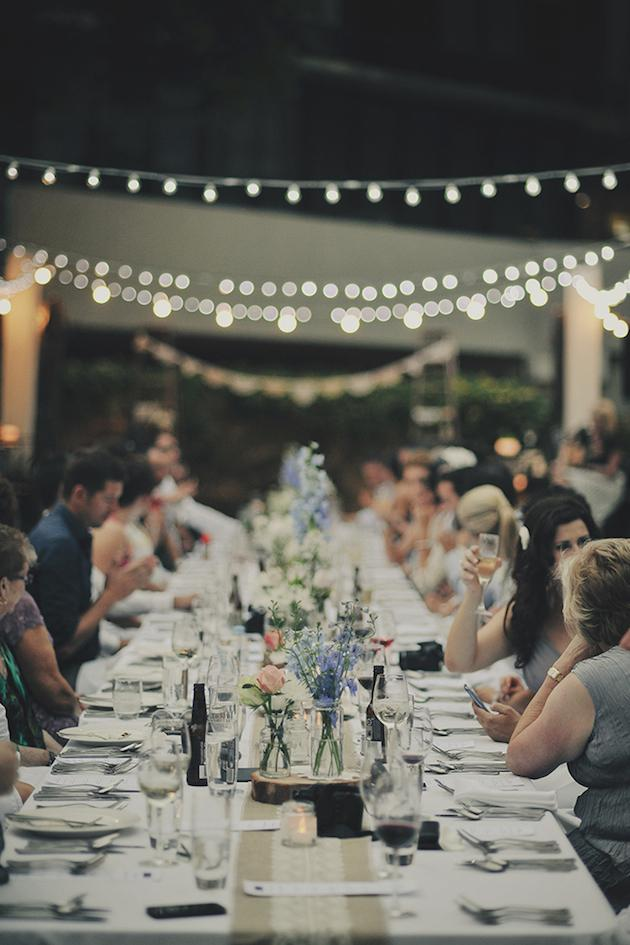 6. Love Seats: There's something really special about long dining tables, that creates a closer, familiar feel over the more formal round variety or top table set-up. Choosing a sweetheart table will also give you and your other have a chance to have your own romantic dinner for two at your wedding.