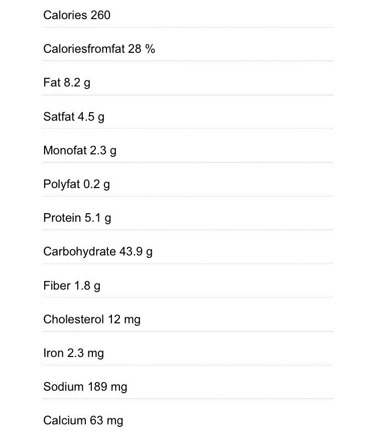 Chocolate fudge cake nutritional information