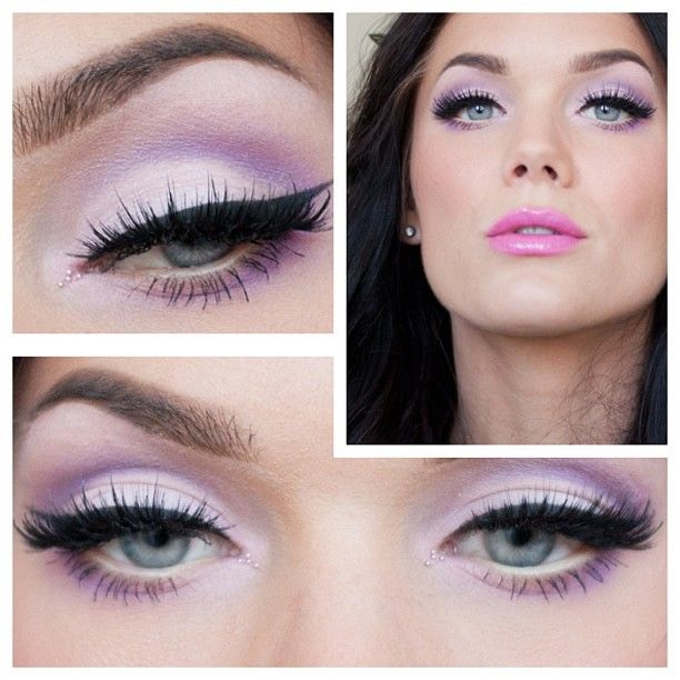 Use a lavender color on the inner corners and brow bone because that is more natural than white. Or you could use any eyeshadow that matches your skin color.