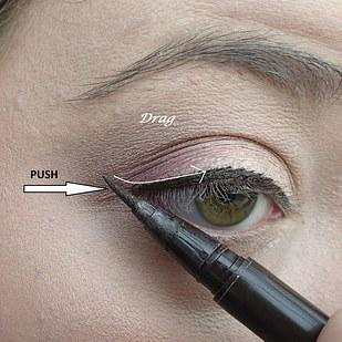18. And when you're feeling like you might want a little cat eye, use this two-step trick to make it easy.