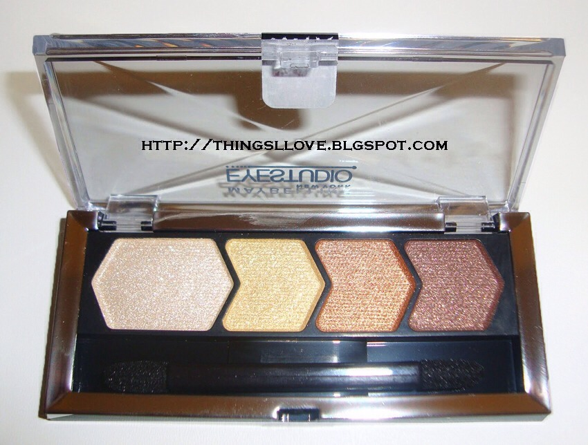Gold and bronze colors will make a brown eye pop but look natural at the same time ! This is the maybaline eye studio pallet !