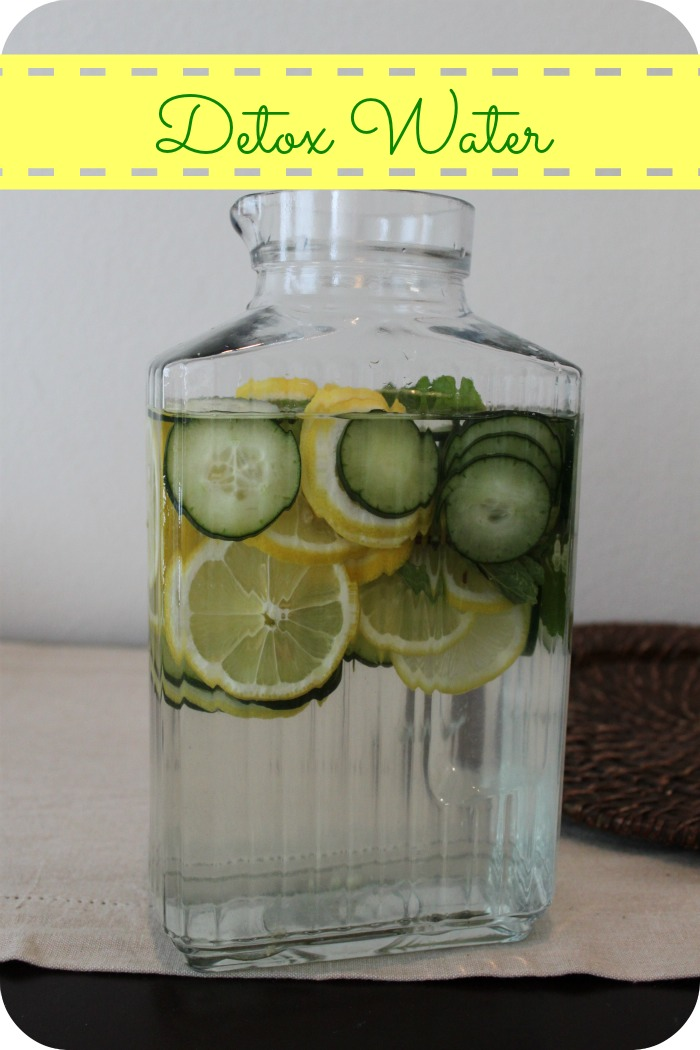 You'll Need 2L Of Water, 1 Med. Cucumber Cut In Slices, 1 Lemon Cut In Slices And 10-12 Mint Leaves.   Keep In Fridge Overnight And Drink Everyday.