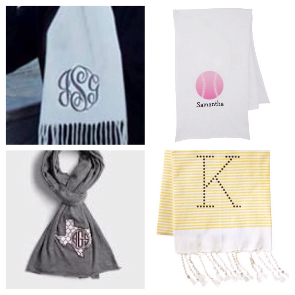 Don't have time to make something, well you can always order a personalized scarf!