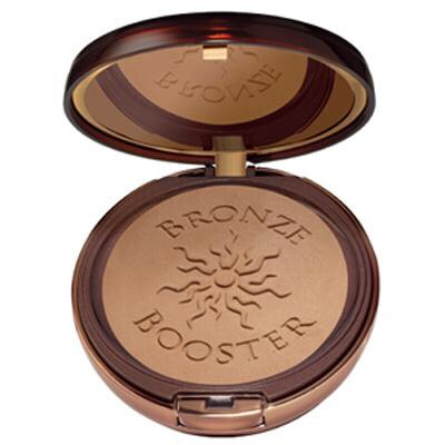 The physicians formula bronze booster is my favorite drugstore bronzer because it isn't too orangey but gives a nice sun kissed glow. It had a hint of shimmer in the pan but it doesn't show at all on the face. Only downside is that they only have 2 shades, I wish they would make more